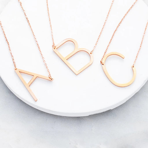 PERSONALISED MAGNIFICENT MONOGRAM OVERSIZED INITIAL NECKLACE -Free Shipping