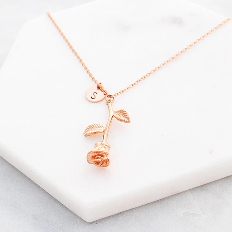 alexia large initial gold rose baublebox necklace v x products pendant