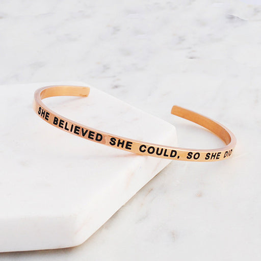 Buen amor - she believed she could so she did bracelet