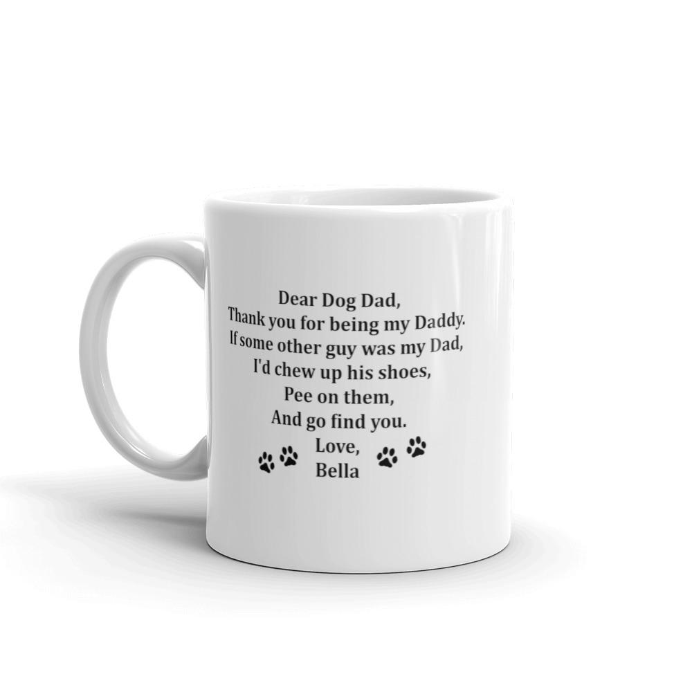 Personalised Dear Dog Dad Mug - Free Shipping