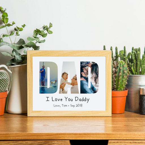 Personalised Father's Day Photo Print