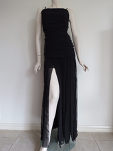 Hot 90's Designer STUDIBAKER Unique Black Cocktail Dress