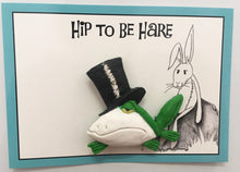 Hip to be Hare Dapper Frog Brooch
