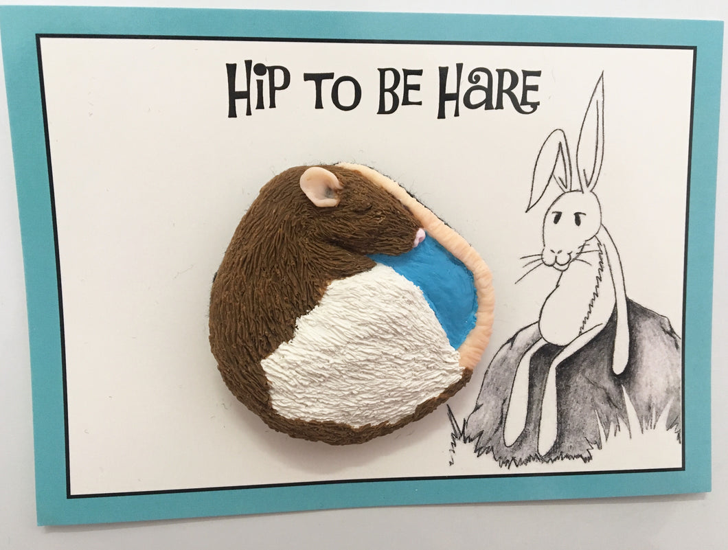 Hip to be Hare Rat Brooch