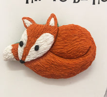 Hip to be Hare Relaxing Fox Brooch