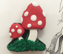Hip to be Hare Toadstool Brooch