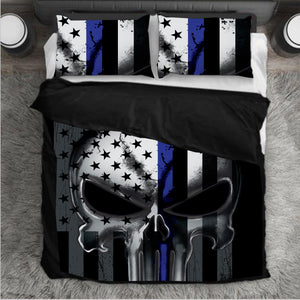 cf812aa64 Punisher Bedding Set - Thin Blue Line - USA comes First