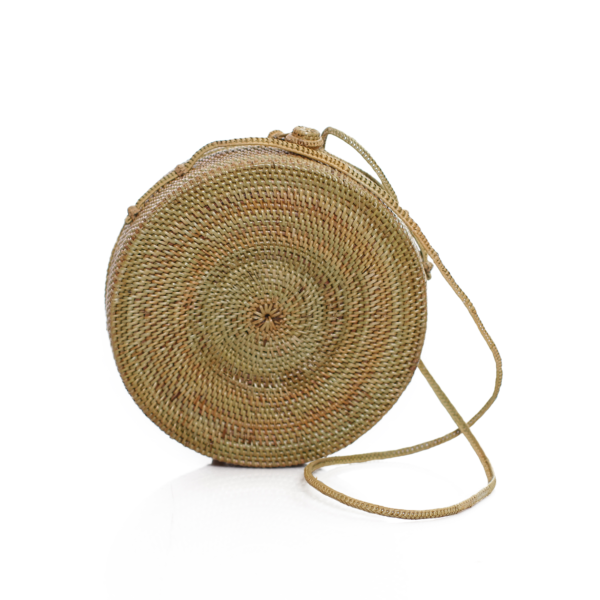 Rattan Bag | Round Beach Bag | Vegan Bags | Moonage The Label