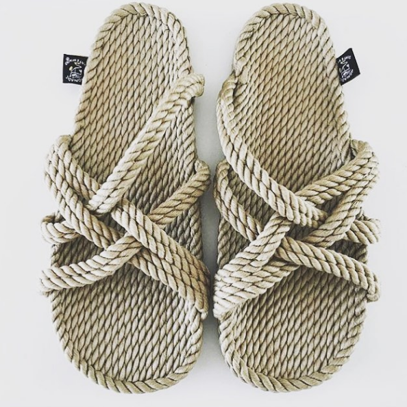 Slip on Rope Sandals Camel - Macrame  - Homeware NOMADIC STATE OF MIND - Sustainable LekkerProject - Lekker Project