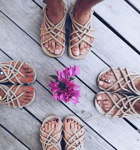 Rope Sandals Camel - Macrame  - Homeware NOMADIC STATE OF MIND - Sustainable LekkerProject - Lekker Project