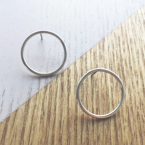 Large Circle Studs | Silver Earrings Australia | Eco Friendly Jewellery