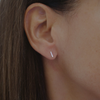 Mini Linear Studs | Silver Earrings Australia | Eco Friendly Jewellery