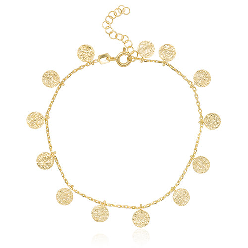 Coin Bracelet Gold - Macrame  - Homeware Ana Dyla - Sustainable LekkerProject - Lekker Project