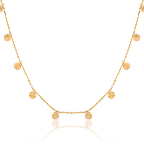 Full Coin Necklace Gold - Macrame  - Homeware Ana Dyla - Sustainable LekkerProject - Lekker Project