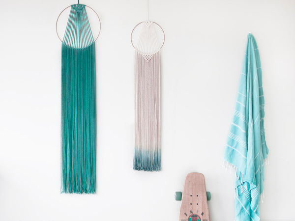 Large Macrame Hoop Hanger Teal - Macrame Macrame - Homeware Lekker Project - Sustainable LekkerProject - Lekker Project