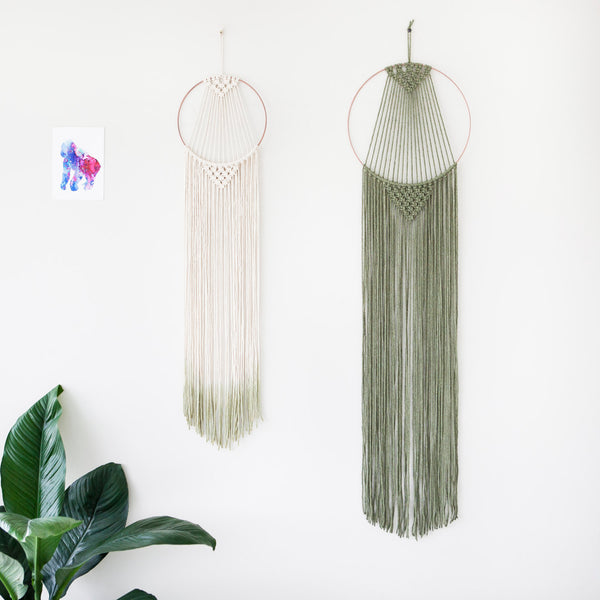 Large Macrame Hoop Hanger Olive - Macrame Macrame - Homeware Lekker Project - Sustainable LekkerProject - Lekker Project