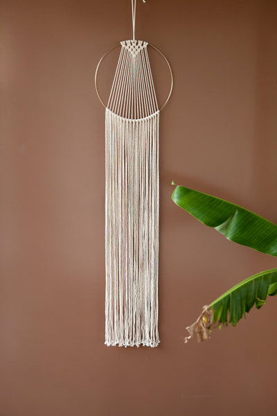 Large Macrame Hoop Hanger - Macrame Macrame - Homeware Lekker Project - Sustainable LekkerProject - Lekker Project