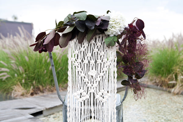 Macrame Chair Cover - Macrame Macrame - Homeware Lekker Project - Sustainable LekkerProject - Lekker Project