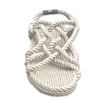 Rope Sandals Bone - Macrame  - Homeware NOMADIC STATE OF MIND - Sustainable LekkerProject - Lekker Project