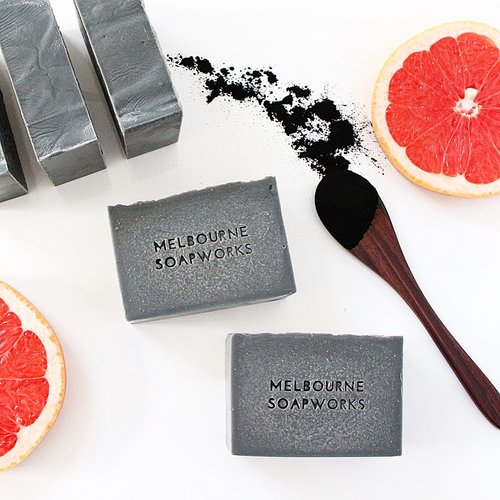 Activated Charcoal, May Chang & Pink Grapefruit Soap - Macrame  - Homeware Melbourne SoapWorks - Sustainable LekkerProject - Lekker Project