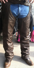 Dark Brown Leather Thermal Lined Chap - highwayleather