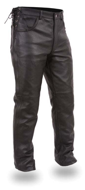 PUEBLO Leather mc over pant chap - highwayleather