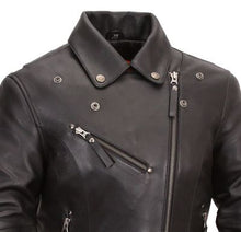 Women's Riveted Classic M/C Jacket - HighwayLeather