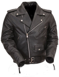 Men's Classic Side Lace Motorcycle Jacket - HighwayLeather