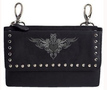 Clip pouch grey tribal Heart - HighwayLeather