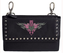 Clip pouch Pink tribal Heart - HighwayLeather