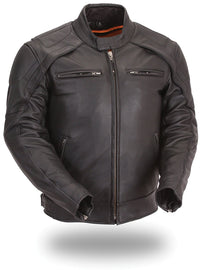 Men's vented scooter jacket - highwayleather