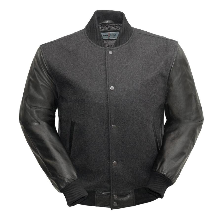 VARSITY - MEN'S WOOLEN JACKET WITH LEATHER SLEEVES - HighwayLeather