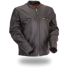 Men's full side stretch scooter jacket - The Promoter - highwayleather