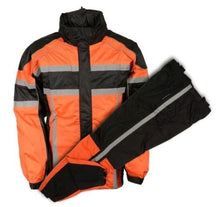 Mens Orange Rain Suit - HighwayLeather