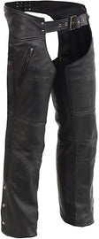 Men's Chaps w/ Cool Tec® Leather & Zippered Thigh Pockets - HighwayLeather