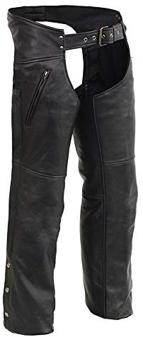 Men's Leather Chaps w/ Zippered Thigh Pockets & Heated Technology - HighwayLeather