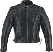 Vented racer leather motorcycle jacket - HighwayLeather