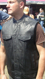 Anarchist Club Leather vest - HighwayLeather