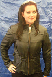 women kass scooter leather jacket - highwayleather