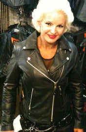 Braid hourglass leather motorcycle jacket - highwayleather