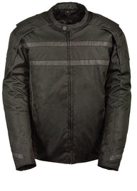 Men's Vented Textile Jacket w/ High Visibility Reflective - highwayleather
