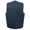 Men's Classic Snap Front Denim Biker Vest - HighwayLeather