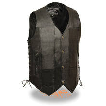 Men's 10 Pocket Side Lace Vest - highwayleather