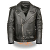Men's Classic Side Lace M/C Jacket - HighwayLeather