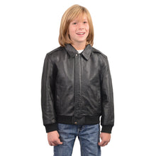 Youth Size Leather Bomber Jacket - HighwayLeather