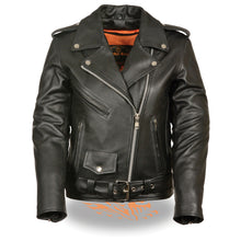 Ladies Full Length Traditional Leather Police Jacket - HighwayLeather