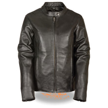 Ladies Classic Side Lace M/C Jacket - highwayleather