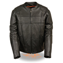 Men's Side Stretch Vented Scooter Jacket - HighwayLeather