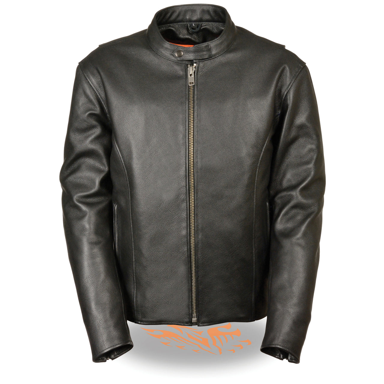 Men's Classic Scooter Jacket w/ Side Zippers - HighwayLeather