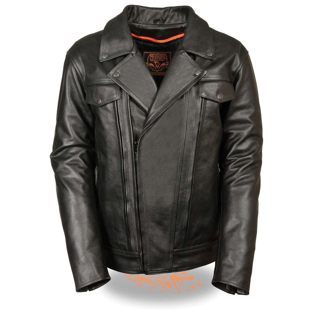 "Men's Tall"" Utility Pocket Vented Cruiser Jacket - HighwayLeather"